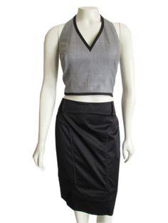 Women's Designer ESCADA Halter Neck Crop Top sz 38 / 8 Fabulous On-Trend Style! | eBay