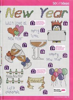 New Year's Day Cross Stitch Pattern 123 Cross Stitch, Cross Stitch Cards, Cross Stitch Designs, Cross Stitching, Cross Stitch Embroidery, Cross Stitch Patterns, Blackwork Patterns, Christmas Cross, Needlework