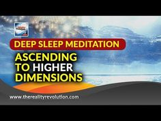 Deep Sleep Meditation - Ascending to Higher Dimensions - Delta Deep Sleep Meditation, Meditation Music, Guided Meditation, States Of Consciousness, Higher Consciousness, Healing Quotes, Lucid Dreaming, The Kingdom Of God, Mind Body Soul