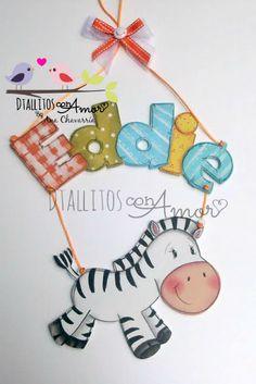 Letrero elaborado en MDF, pintado a mano, con el nombre de tu bebé !! Hecho A Mano