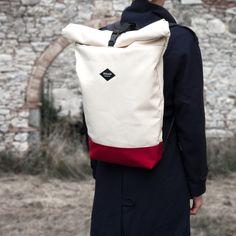 Pure | Megenta Bottom Braasi Industry Rolltop Backpack Made in Prague  braasi.com
