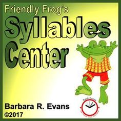Meet Friendly Frog in these interactive task cards for your smartboard.  Friendly Frog is dedicated to teaching students about syllabication.