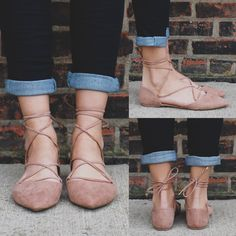 Taupe Almond Toe Lace Up Faux Suede Flat – UOIOnline.com: Women's Clothing Boutique