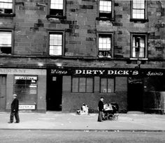 Dirty Dick's public house somewhere in the city of Glasgow. Glasgow Pubs, Glasgow City, Glasgow Scotland, Scotland Travel, Ireland Pictures, Pub Signs, Restaurant Signs, Botany Bay, Fly On The Wall