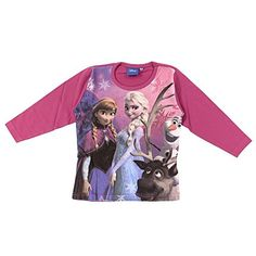 Frozen-Camiseta de manga larga, color rosa, 3 años, color rosa fucsia 7 años #regalo #arte #geek #camiseta