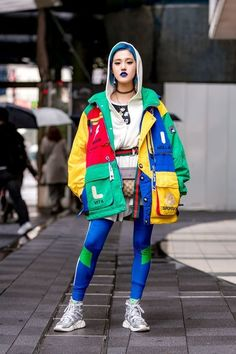 The Best Street Style From Tokyo Fashion Week Fall 2018 is part of Cool street fashion - The street style in Tokyo is on another level See our latest coverage here Seoul Fashion, Tokyo Fashion, Japan Street Fashion, Fashion 90s, Edgy Summer Fashion, Tokyo Street Style, Fashion Mode, Harajuku Fashion, Vintage Fashion