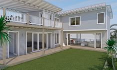 Beach House Freshwater - Courtyard View - New home concept in 3D designed by All Australian Architecture