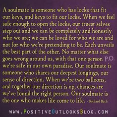 OMG!! This is soooo true!!! My love, you are so amazing & are my true loving eternal soul mate!! How lucky and blessed we are to have found each other!! Thank you..thank you for your love..FOREVER!!! <3