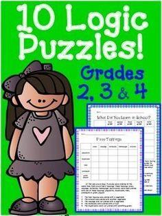 ideas about Math Logic Puzzles on Pinterest   Logic Puzzles