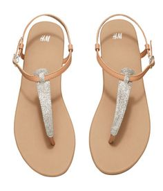 H&M - Strappy Sandals from H&M. Cute Shoes Flats, Shoes Flats Sandals, H&m Shoes, Strappy Sandals, Casual Shoes, Aesthetic Shoes, H&m Online, Fashion Sandals, Summer Shoes