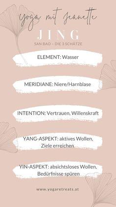 Die 3 Schätze: QI, JING & SHEN - Yoga mit Jeanette in Salzburg & anderswo – Kurse, Firmenyoga, Hotelyoga, Retreats, Events  #yinyang #yogainsalzburg #yogamitjeanette #shen #jing #qi #yinyoga #5elemente #meridiane #tcm Yin Yoga, Yin Yang Yoga, Intuition, Salzburg, Ashtanga Yoga, Yoga Retreat, Most Beautiful Pictures, Events, Achieving Goals