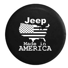 Jeep US Flag United States Made In America Spare Tire Cover