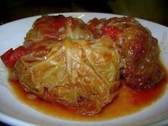 Crock pot cabbage rolls  12 Lg Cabbage Leaves   1½ lb Ground Beef  ½ c Cooked Rice  1 can Tomato Soup   ¾ c Water   ½ tsp Salt   ⅛ tsp Pepper   ¼ t Leaf Thyme   Directions:  Wash cabbage leaves. Boil 4 c water. Turn off heat, and soak leaves in water for 5 minutes.drain and cool. Combine meat, rice, salt, pepper, thyme. Divide meat mixture evenly and roll them up firmly. Stack in electric slow cooker. Combine tomato soup and water and pour over cabbage. Cover, cook on low setting for 8-10…