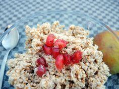 Frühstücksbrei mit Kokosraspeln fructosefrei glutenfrei  Müsli ohne glutenhaltiges Getreide und fructosefrei