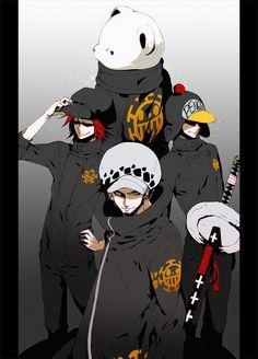 Law, Beppo, Mr.Pinguin & Shachi