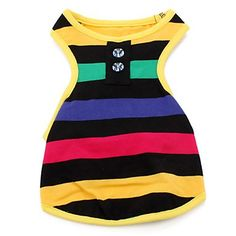 Cool Vibes Stripe Dog Dress - www.DoggieOutfit.com