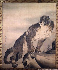 長沢芦雪 Rosetsu Nagasawa『猛虎図』Etsuko & Joe Price Collection