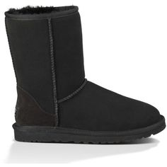 UGG Water-Resistant Classic Short ($165) ❤ liked on Polyvore featuring shoes, boots, ankle booties, lightweight boots, ugg australia, short boots, sheepskin boots and ugg australia boots