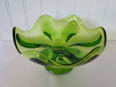 Viking Glass Epic Green Compote Candy Dish Bowl by LeadMeAway, $18.00... I need a ring/jewelry dish that actually matches the bedroom