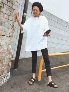 楽々コーデ 黒に続き白もお買い上げ。 ささっと着れて楽でオーバー感が Instagram▶︎mailifemai