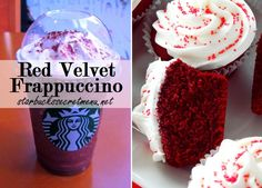 Red Velvet Frappuccino via Starbucks Secret Menu! Recipe here: http://starbuckssecretmenu.net/starbucks-secret-menu-red-tuxedo-frappuccino/
