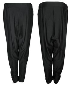 the wide black canvas unisex COSY pants out of 100% organic cotton by format available at WESEN