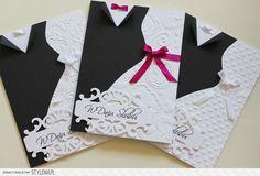 Ręcznie robione kartki na ślub na Stylowi.pl Wedding Card Design, Wedding Cards, Crafty Projects, Funny Cards, Cardmaking, Origami, Presents, Symbols, Letters