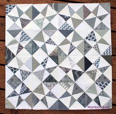 grey white quilt wip
