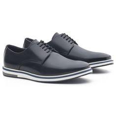 Sapato Masculino Derby Loring Preto