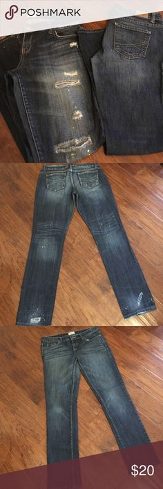 """Aero Bayla Skinny Jeans Bundle Size 9/10 Awesome bundle. GUC. The Distressed pair have been worn less. Inseam ~ 31"""" (Distressed pair) and 29"""". Aeropostale Jeans Skinny"""