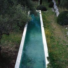 Turquoise pool in Nice, France by Jacqueline Morabito