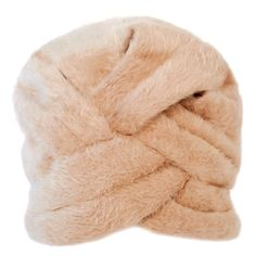 Preowned Lanvin Castillo For Saks 5Th Ave Beige Felted Fuzzy Turban... ($225) ❤ liked on Polyvore featuring accessories, hats, brown, beige hat, fisherman hat, vintage bucket hats, vintage turban and bucket hat
