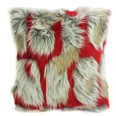 Hybrid Brick Cushion Faux Fur Throw Pillow