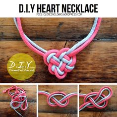 D.I.Y Heart Necklace - 15 Amazing Diy Necklace Ideas