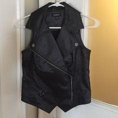 Bebe vest Back Bebe zip up vest . Never worn bebe Jackets & Coats