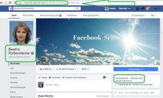 Beispiel die Facebook-Seite Beatrix Rottensteiner