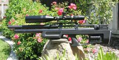 The .25 Caliber Cricket air rifle in synthetic stock! Awesome!
