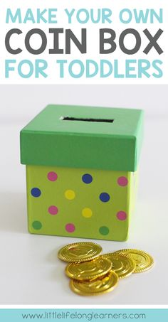 DIY coin box for toddlers and babies | object permanence | montessori toy | make your own toys |