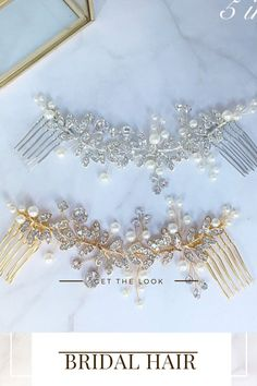 Add some glamour to your hairstyle with this beautiful crystal and pearl bridal headpiece available in silver , gold or rose gold. As the hair comb is flexible it can be worn at the front or back of your hair and can be shaped to suit any hairstyle. The hair piece is available in different lengths - Bridal Hair Down, Wedding Hair Down, Bridal Hair Vine, Wedding Hair Pins, Headpiece Wedding, Bridal Headpieces, Or Rose, Rose Gold, Bride Hair Accessories