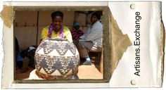 Women from Ilala Weavers in Southa Africa, making these amazing Zulu Baskets. We look forward to having them on http://artisans.exchange