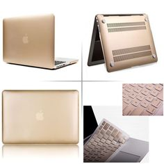Champagne Gold Rubberized Case & Keyboard Cover-Macbook Pro