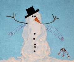 Shaving Cream Snowman at AllFreeHolidayCrafts.com. Tons of snowman crafty ideas for me and the kids!
