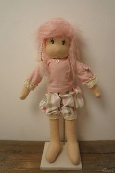 17'' OOAK doll  pink BUTTERFLY FAIRY Florence by DORIMU on Etsy, $520.00