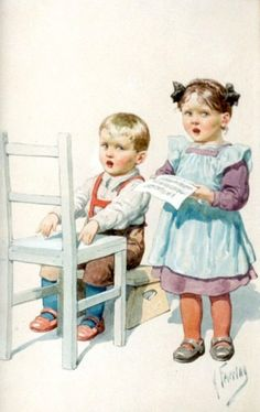 Karl Feiertag (1874 – 1944,Austrian)  totally adorable. Reminds me of my pretending times as a child.