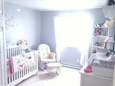 Grey baby room! I love the feeling I get sitting in the glider!