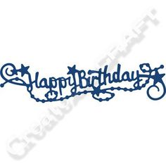Tattered Lace Happy Birthday Swag Die