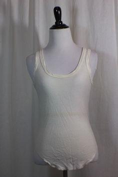Hana Women's White Sleeveless Silk Tank Top Blouse S #Hana #TankCami #Casual