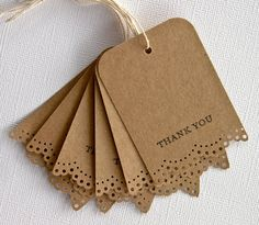 "Gift tag idea ""thank you"""