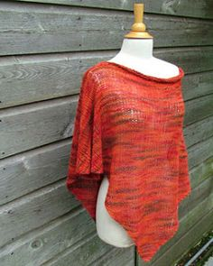 Create With Mom: Knitted Pinnacle Poncho..free pattern