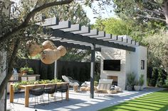 Garden Studio creates landscape by design by utilizing outdoor spaces. Design inspiration throughout our website. Back Patio, Backyard Patio, Backyard Landscaping, Patio Roof, Landscaping Ideas, Outdoor Seating, Outdoor Spaces, Outdoor Living, Outdoor Decor
